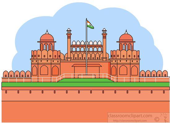 Red Fort Delhi Clipart.