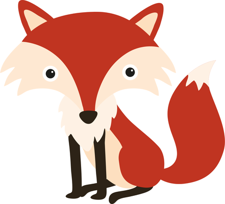Top red fox clip art free clipart image png.