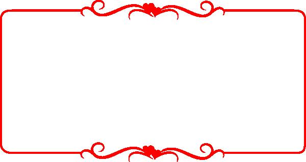 Red Border Hearts Clip Art At Clker Com Vector Clip Art.
