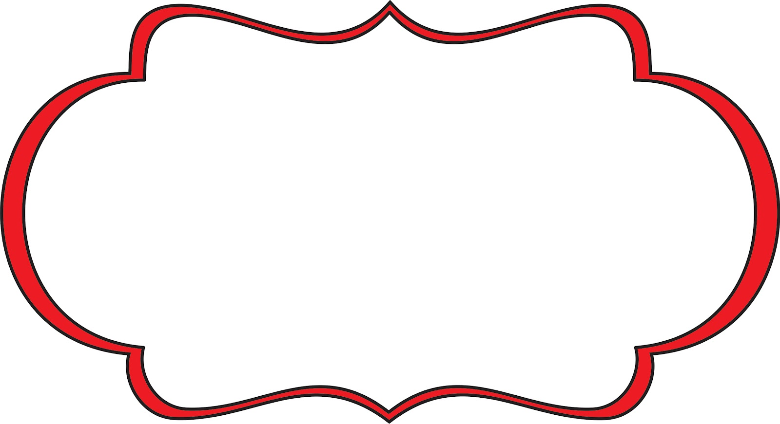 Red Frame Clipart.