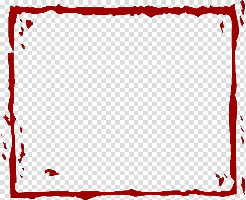 Square red frame illustration, Red, Red Line border.