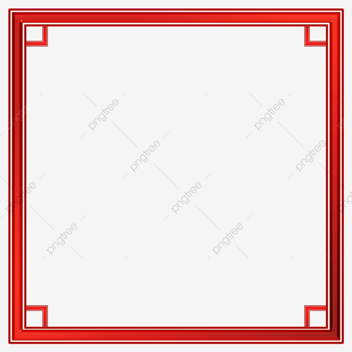 Dark Red Solid Square Frame Border Png Psd, Dark Red Frame.