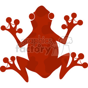 5640 Royalty Free Clip Art Red Frog Silhouette Logo clipart. Royalty.