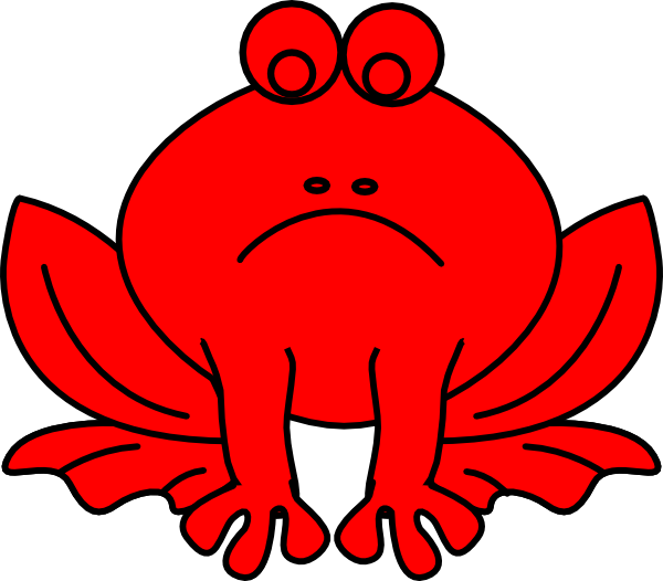Red Misbehavior Frog Clip Art at Clker.com.