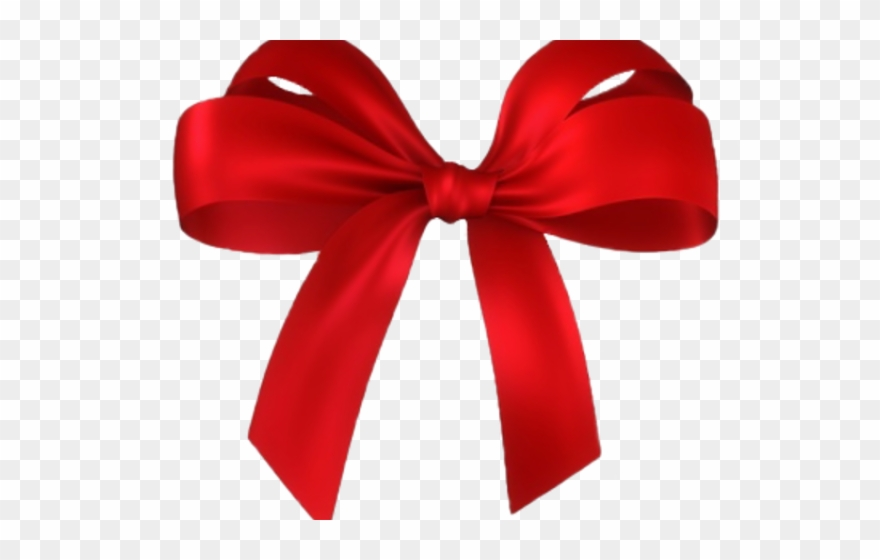 Bow Clipart Dark Red.