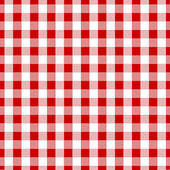 Red Gingham Fabric Texture.