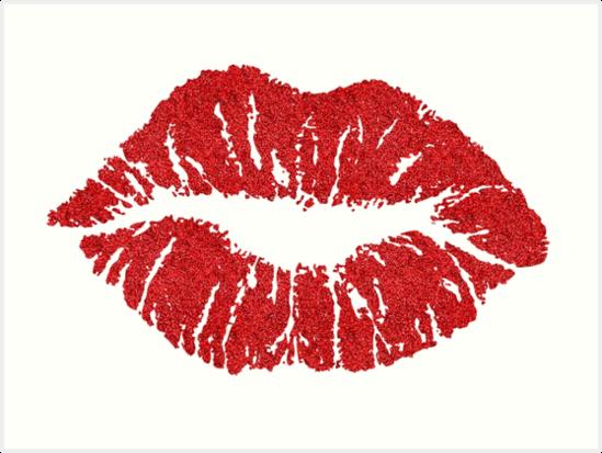 \'Glitter (Red) Lips\' Art Print by myheadisaprison.