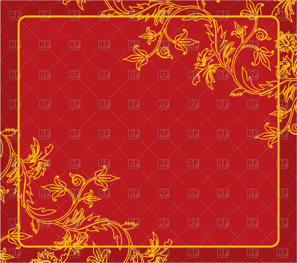 Gold Red Clipart.