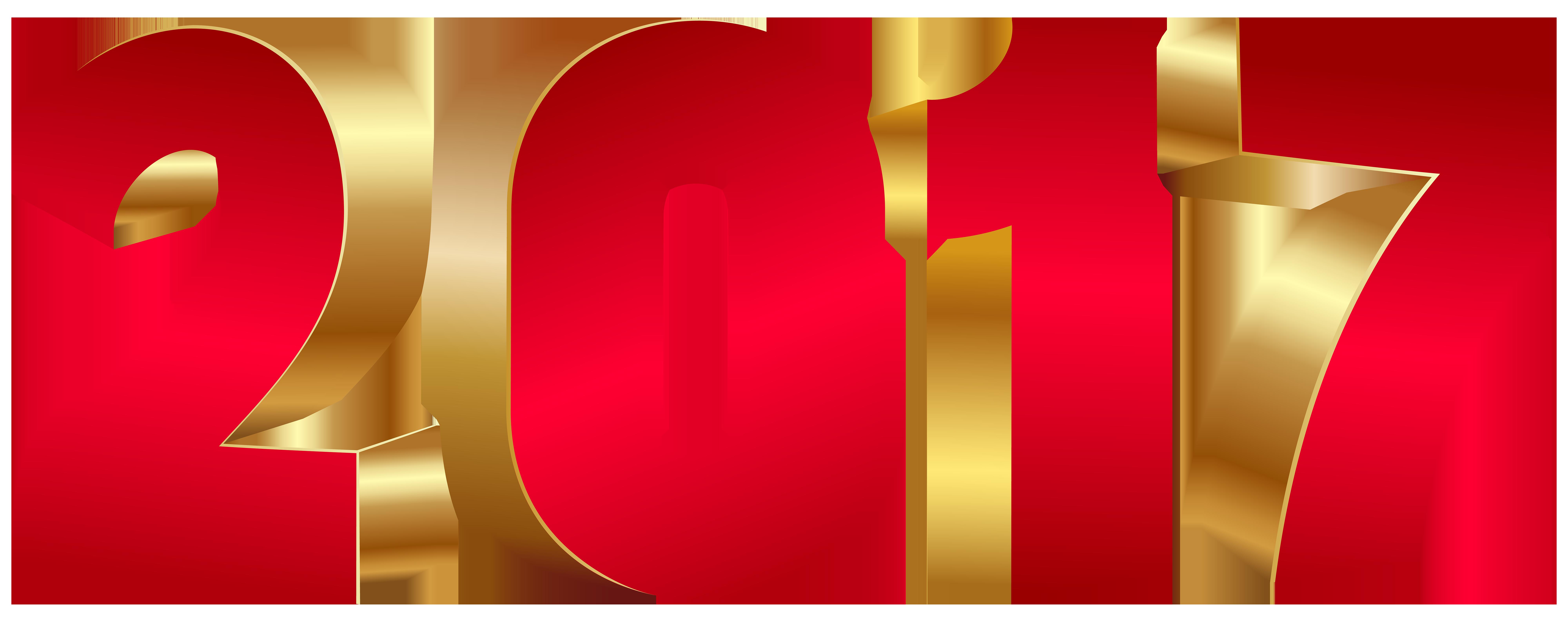 2017 Red Gold Large PNG Transparent Image.