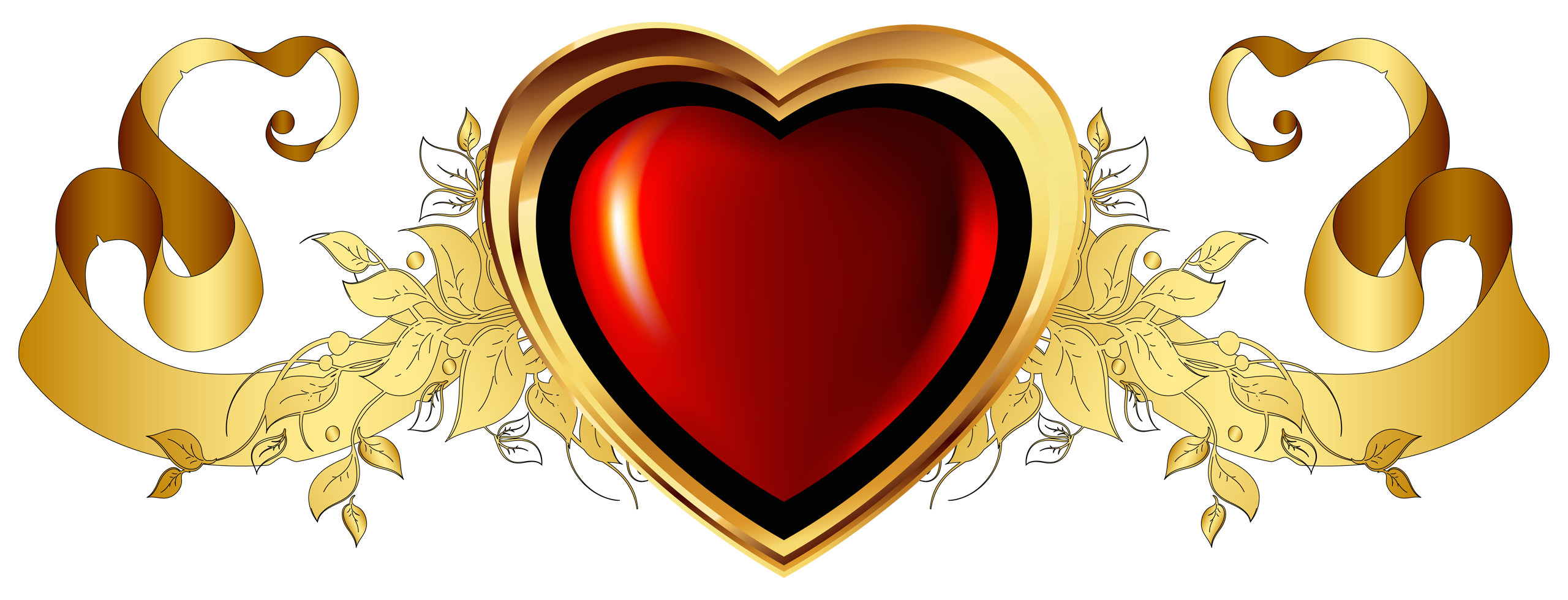 Red gold clipart.