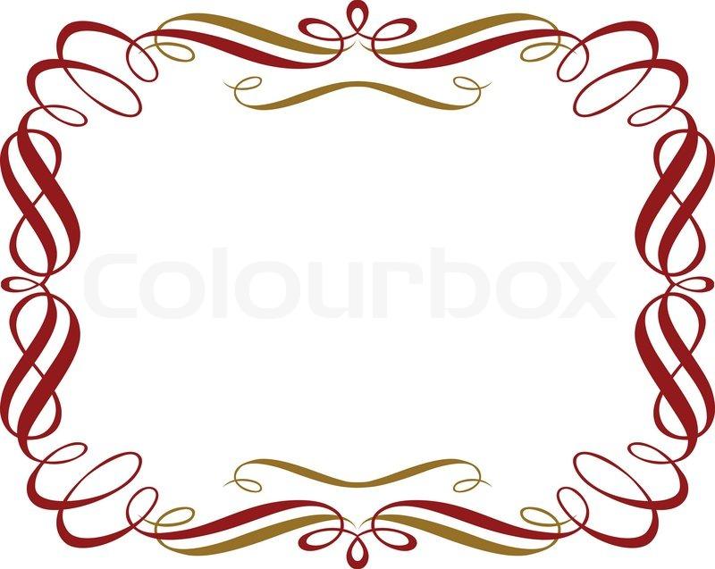 Retro Red Gold Border Vector Colourbox
