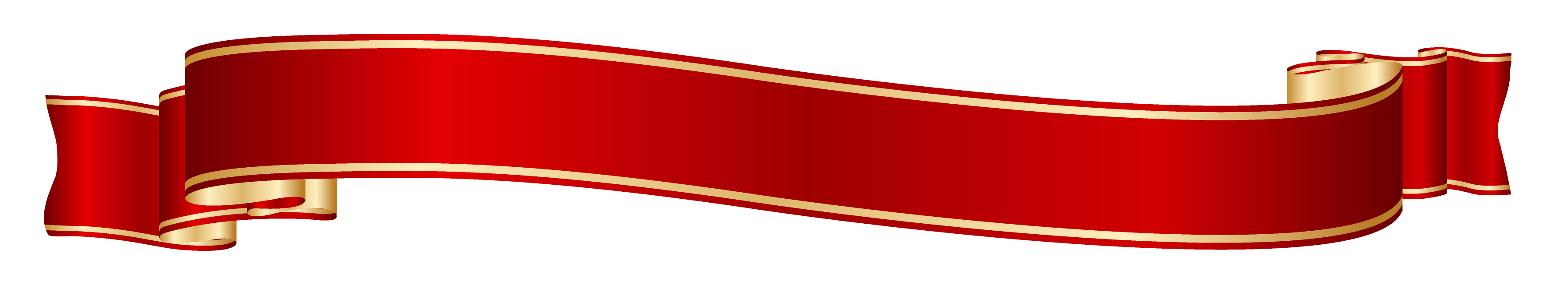 Red and Gold Banner PNG Clipart Picture.