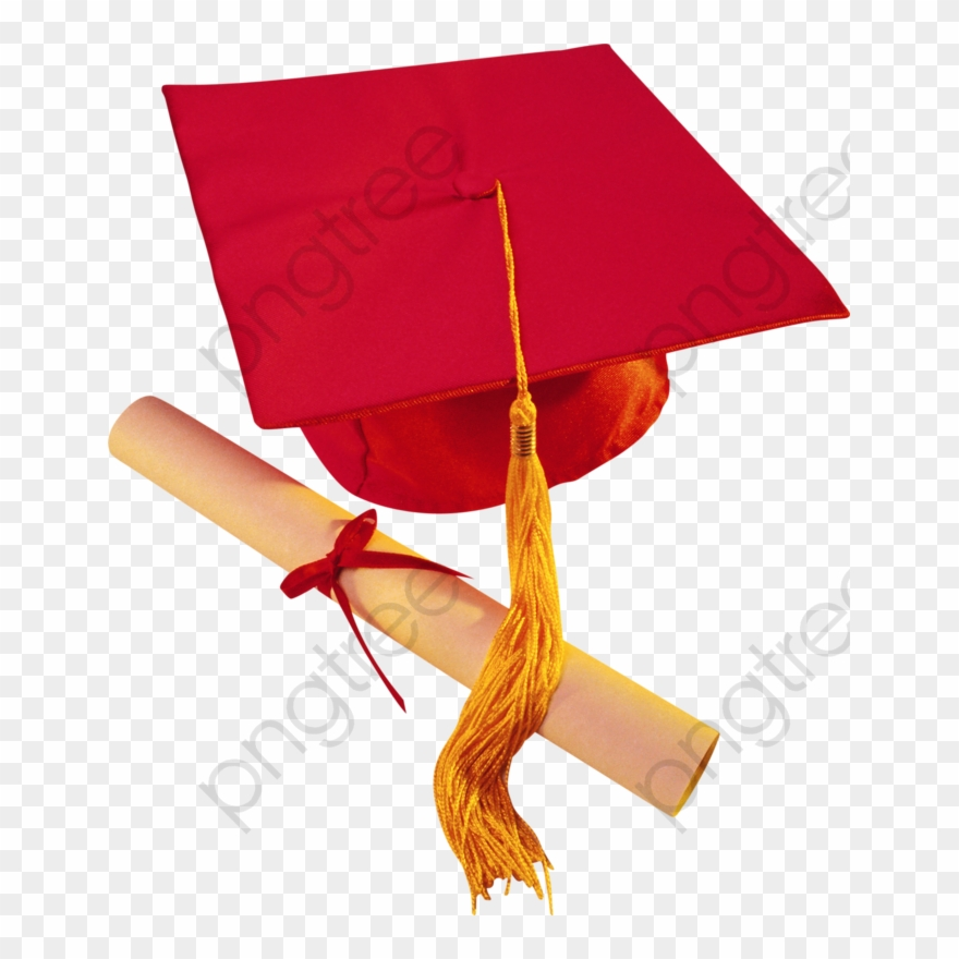 Red Graduation Cap And Diploma Graduation Cap Clipart.