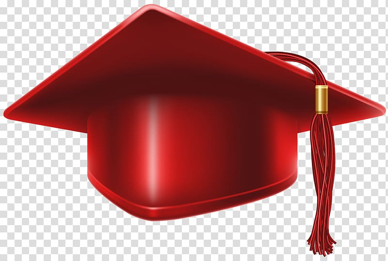 Of red mortar board, Red, Red Graduation Cap transparent.