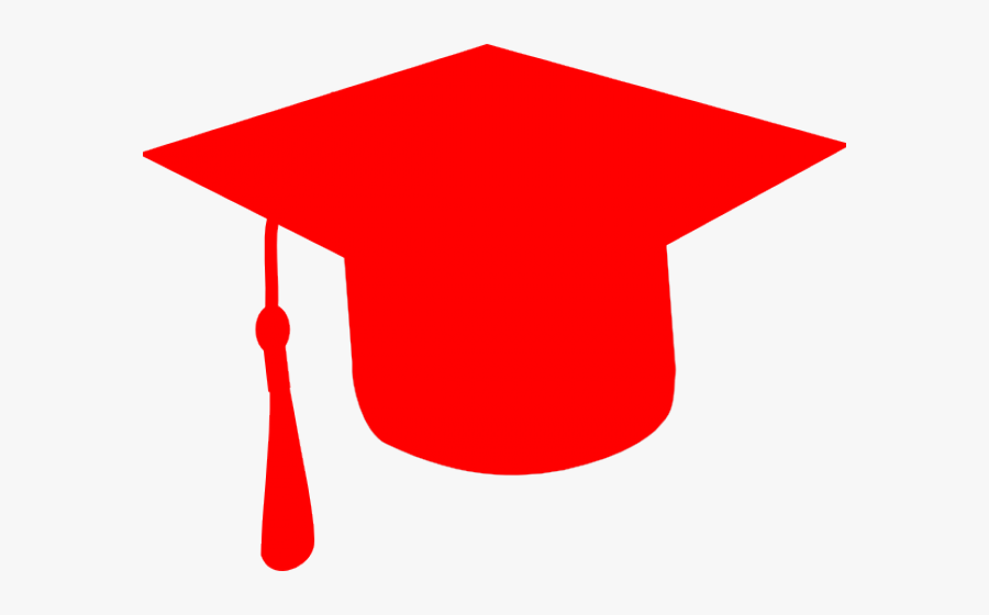 Red Graduation Cap Vector , Free Transparent Clipart.