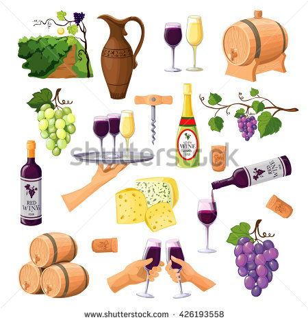 Grape Varieties Stock Vectors, Images & Vector Art.