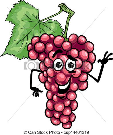 Red grapes clipart.