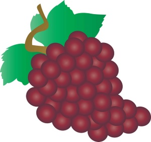 Grapes clipart image a bunch of red grapes.