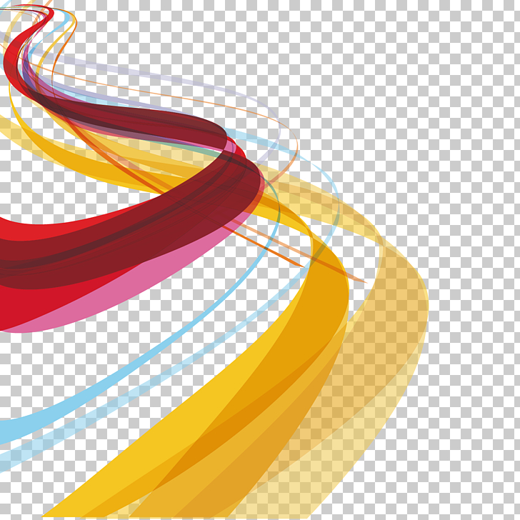 Color Curve Graphic design, curves and wavy lines, red and.