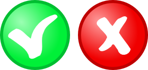 Red Green Ok Not Ok Icons clip art Free Vector / 4Vector.