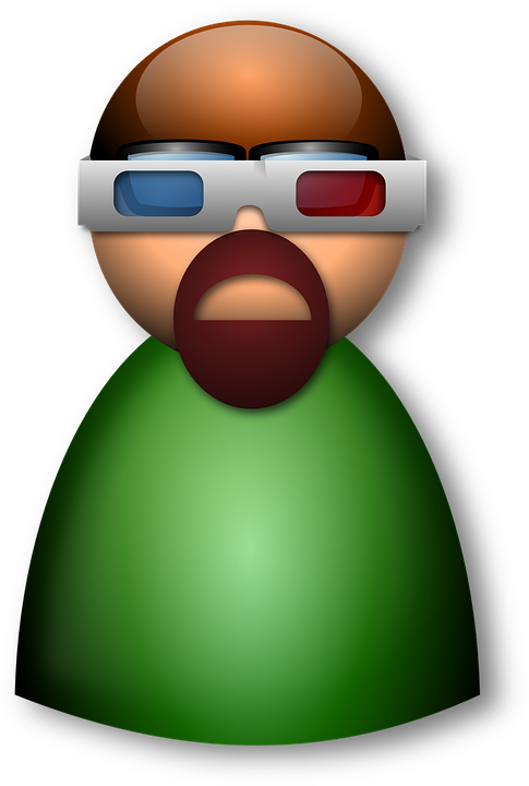 Free vector graphic: Man, Person, Green, 3D Glasses.