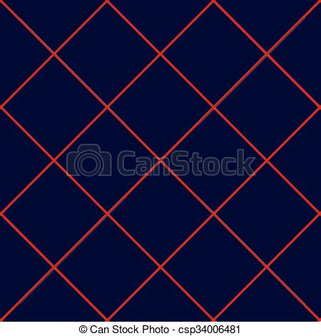 Vector of Red Grid Square Royal Blue Background.