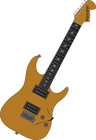 Red Electric Guitar clip art Free vector in Open office drawing.