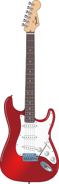 Red And White Guitar Clip Art at Clker.com.