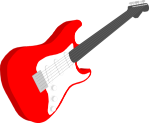 Red Guitar Clipart.