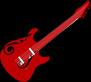 Red Guitar Clip Art at Clker.com.