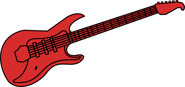 Red Guitar Clipart Clipground