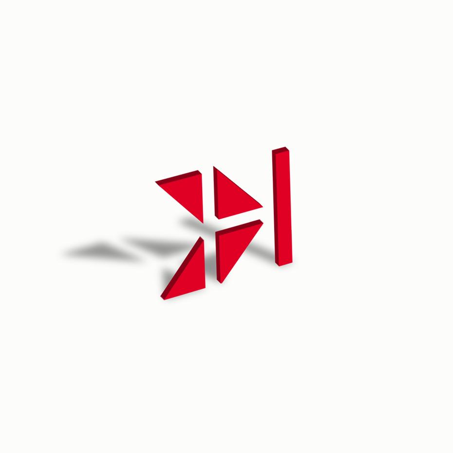 Negative Space Letter H Logo for sale • LogoFolder.