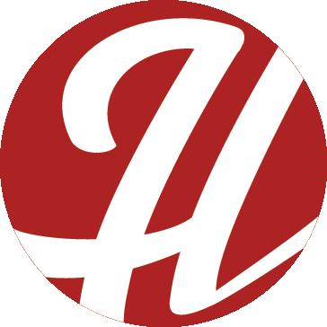 Hammered H logo sticker.
