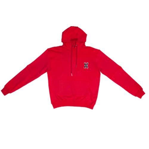 H Logo Hoodie In Red.