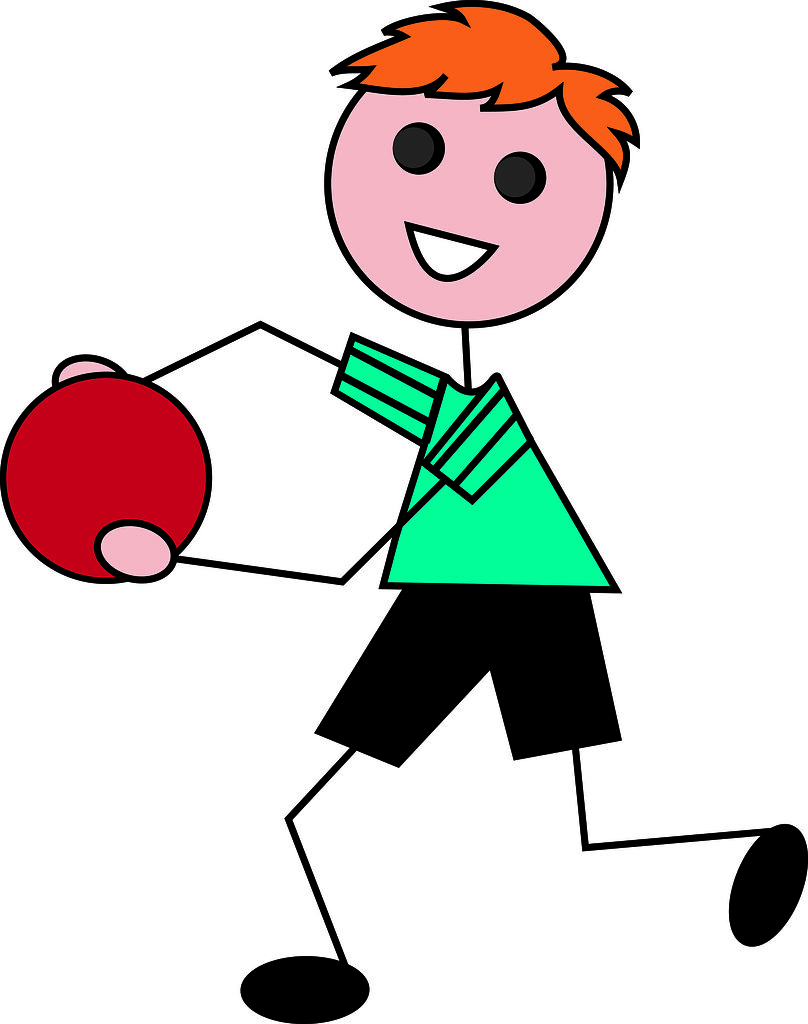 Clip Art Illustration of a Cartoon Little Red Haired Boy P.