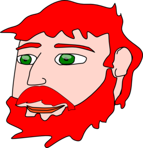 Man with red hair clipart.