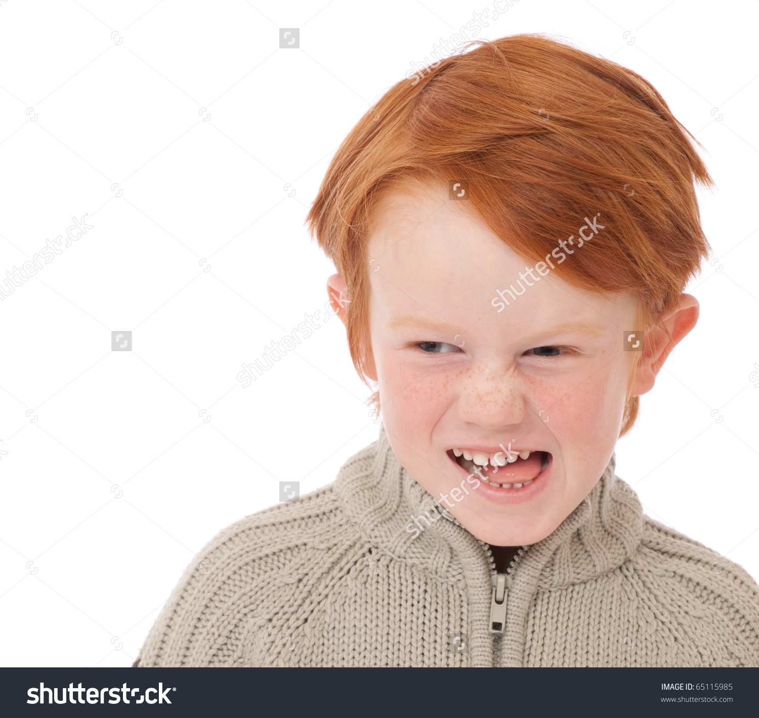 Red Hair Older Boy Kids Clipart.