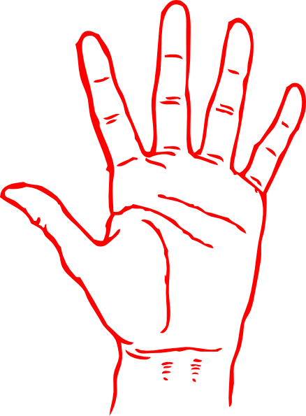Red Hand Clip Art at Clker.com.