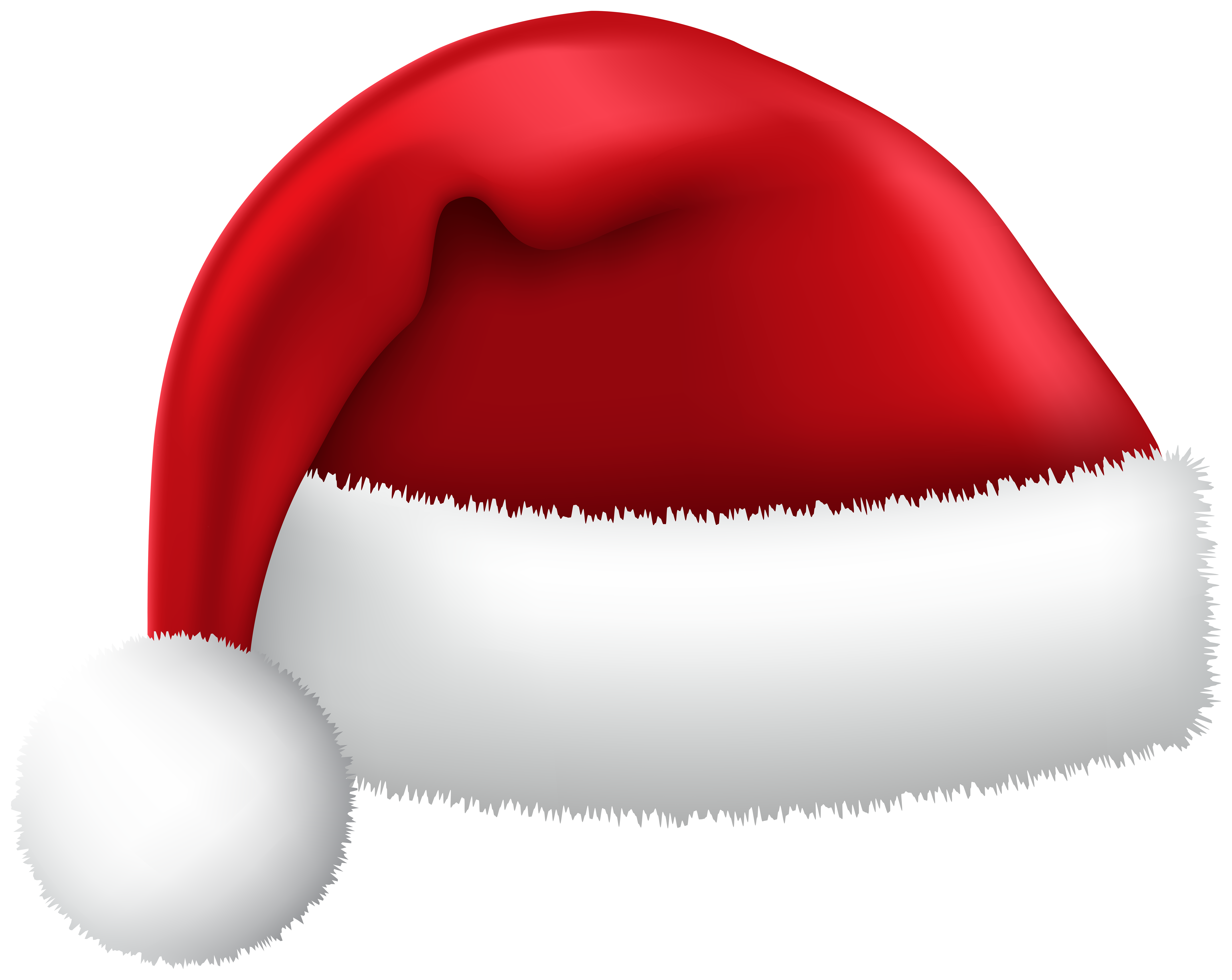 Christmas Santa Red Hat PNG Clipart.