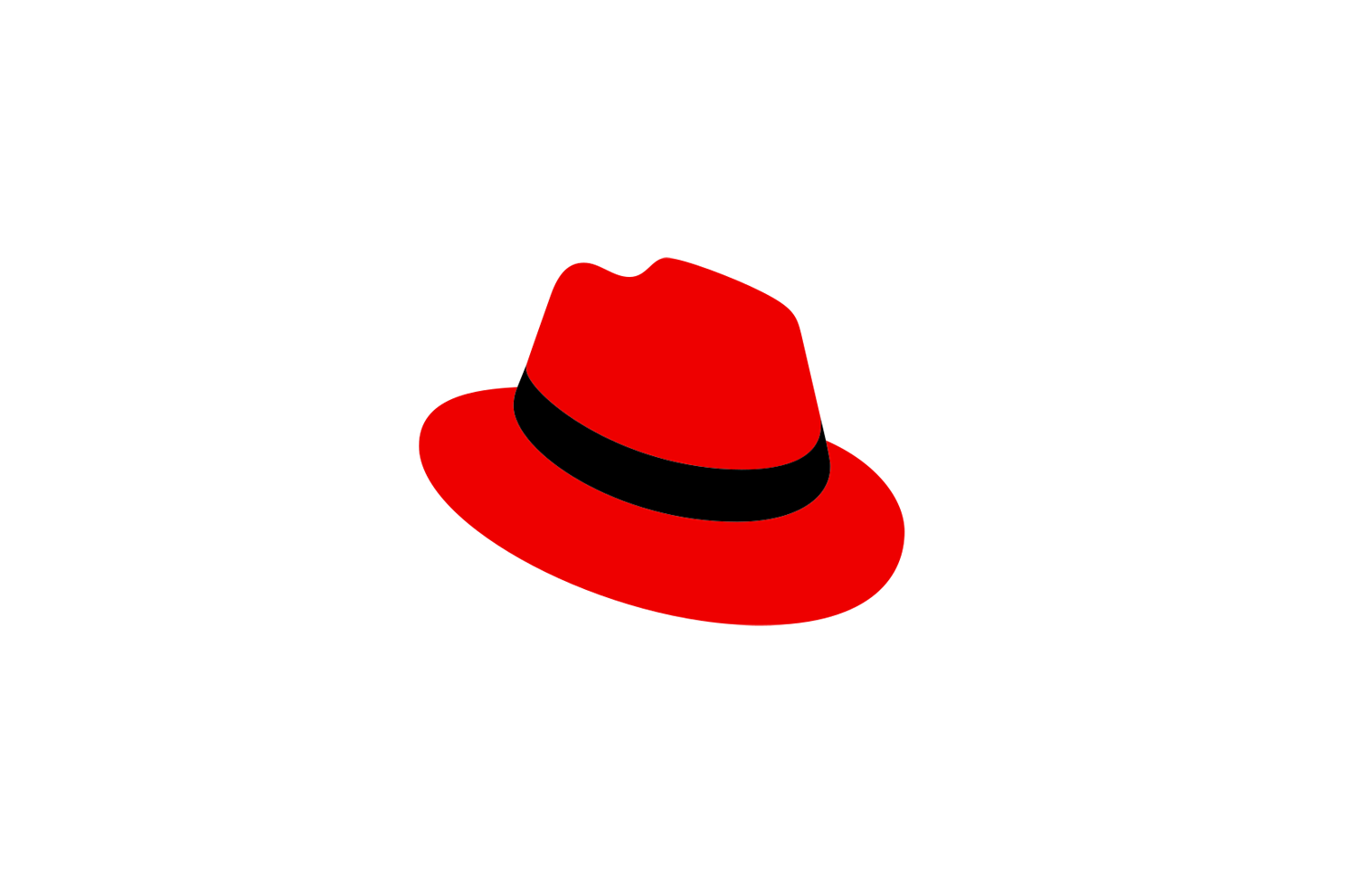 Red Hat logo.