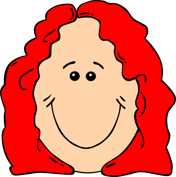 Red Hair Female Cartoon Face Clip Art at Clker.com.