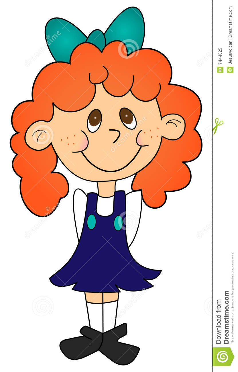 Clipart red head girl characters.
