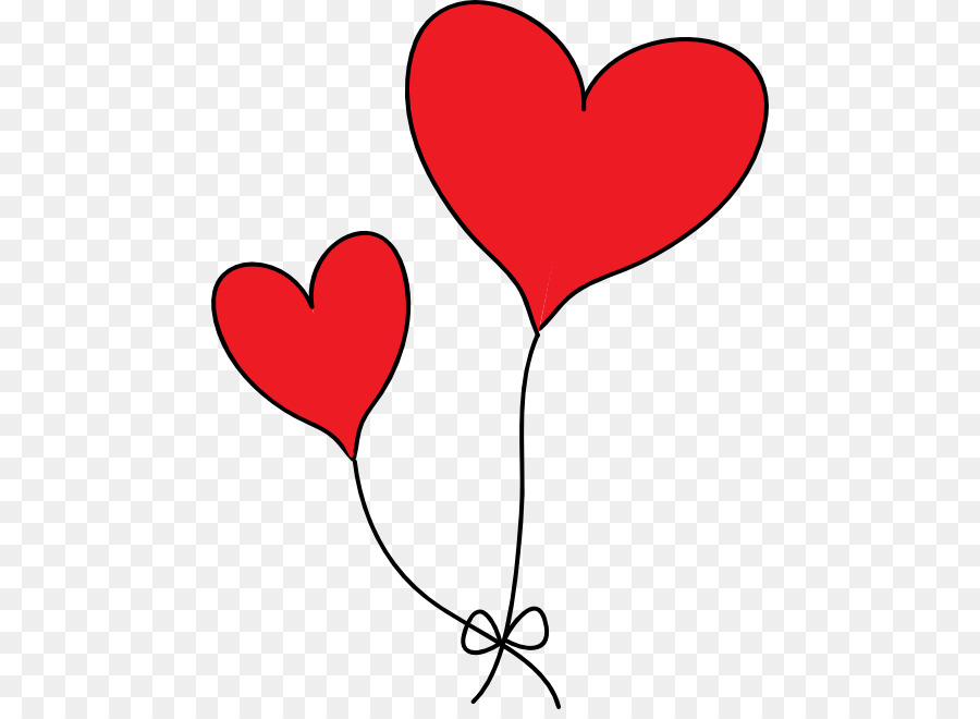 Heart Balloon Red Clip art.