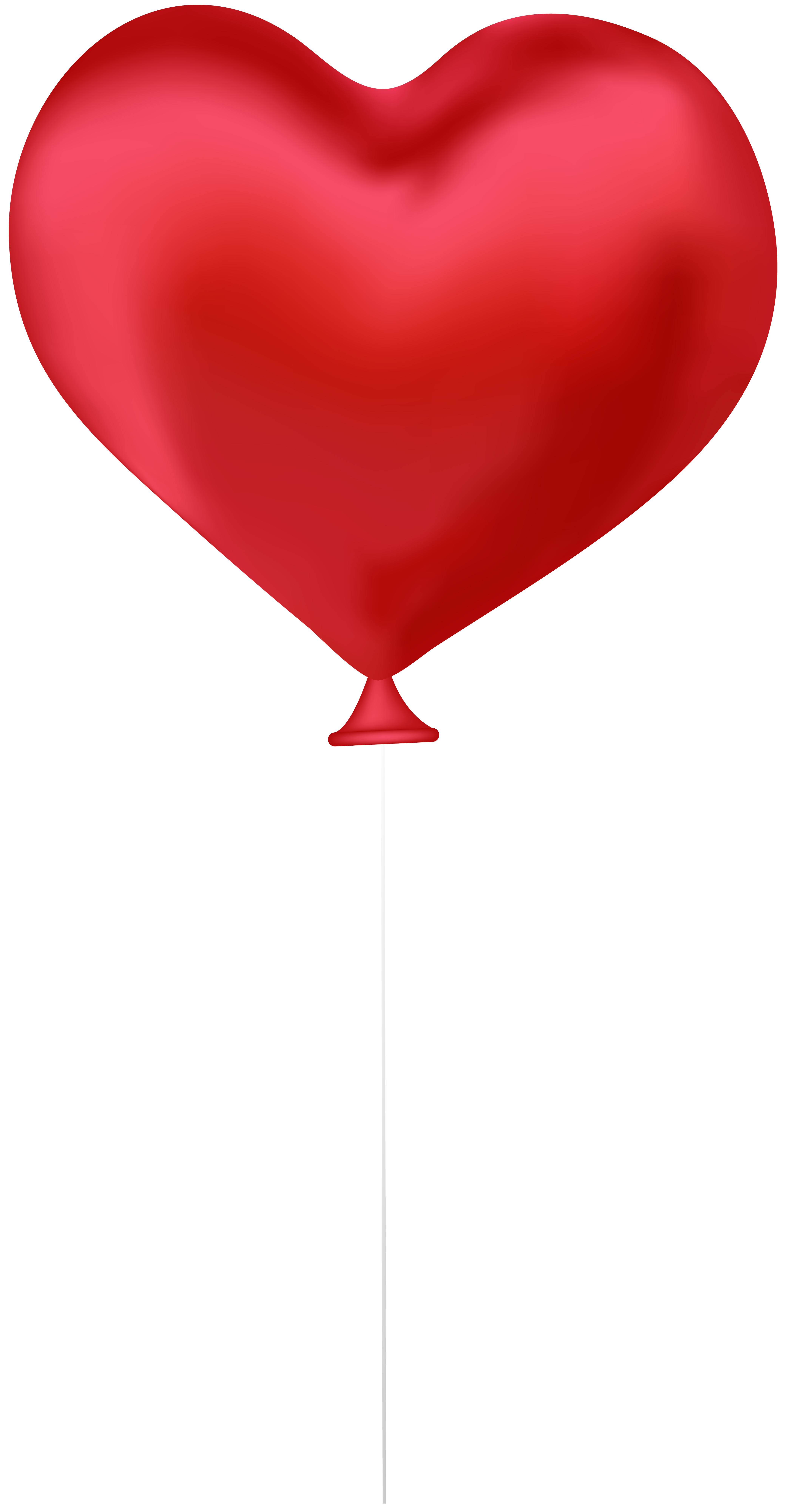 Red Heart Balloon PNG Clip Art Image.
