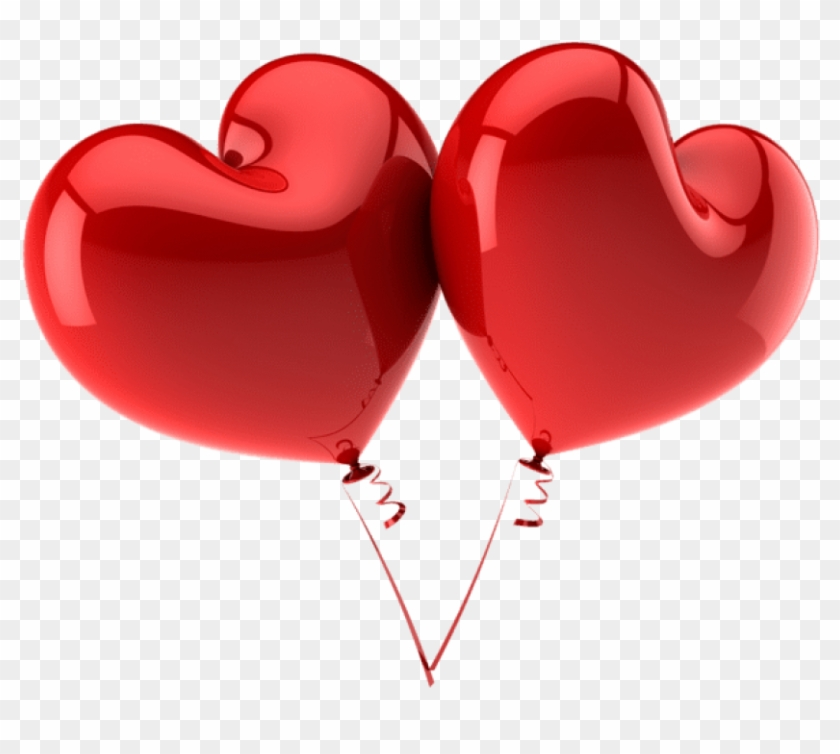 Free Png Download Red Large Heart Balloons Png Images.