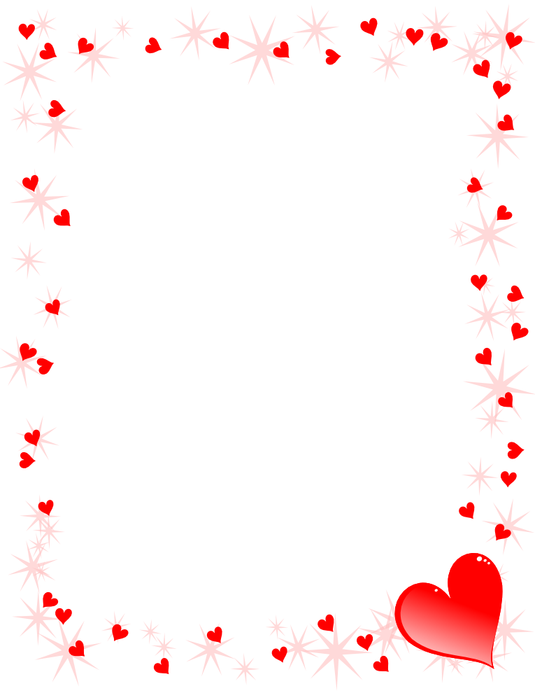 Red heart border clipart images gallery for free download.