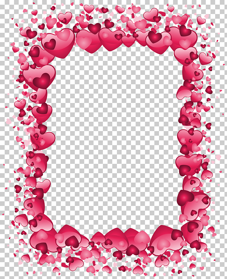 Right border of heart Valentine\'s Day , Valentine\'s Day Pink.