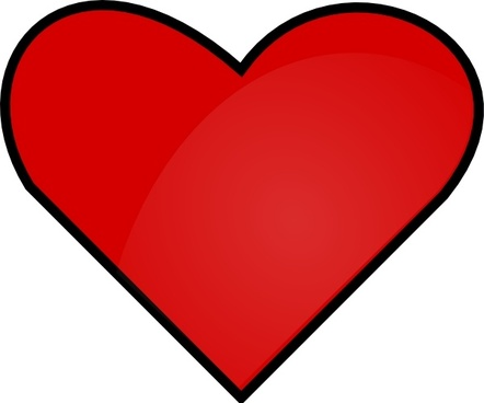 Red heart clip art transparent background free vector.