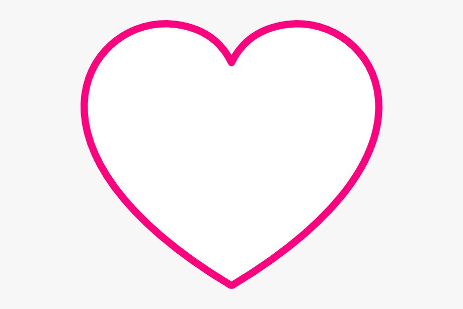 Heart Shaped Clipart Dark Pink.