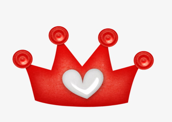 Red crown PNG clipart.